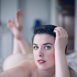 A Raven by Colin Dixon - Nudes & Boudoir Boudoir ( natural light, nude, soft focus, natural, eyes )