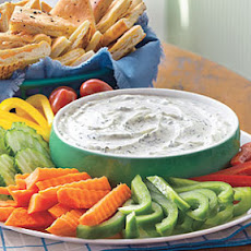 Creamy Dill Dip with Pita Chips
