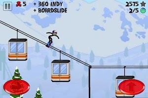 Screenshot of Stickman Snowboarder