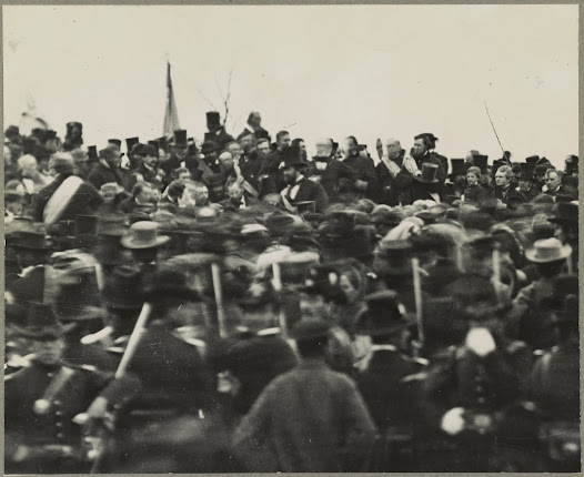 President Lincoln at Gettysburg just after delivering his remarks, Library of Congress