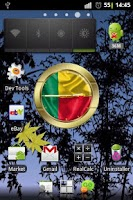 Screenshot of Benin flag clocks
