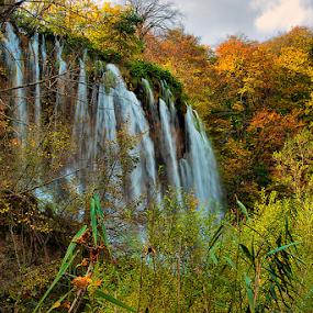 Jesen na Plitvicama by Darko Kireta - Landscapes Waterscapes ( plitvice, jesen, slap )