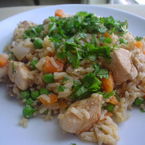 Fried Rice with Chicken and Beef