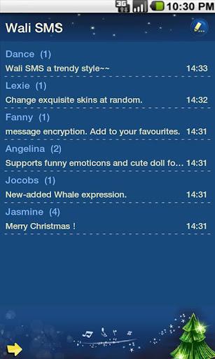 玩免費個人化APP|下載ワリーSMSテーマ:メリークリスマスのファンタジー app不用錢|硬是要APP