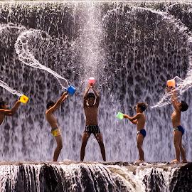 Playing water by JudiEndjun Ultrasound - Babies & Children Children Candids