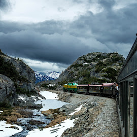 Train to freedom  by Scott Niccolls - Landscapes Mountains & Hills ( mountains, canada, snow, alaska, skagway, train, white pass )