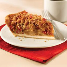 Cranberry-Pear Crumble Pie