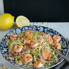 Chilli And Garlic Prawn Linguine With Bacon