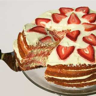Strawberry Lemonade Layer Cake!!