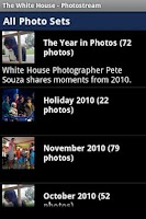 Screenshot of The White  House's Photostream