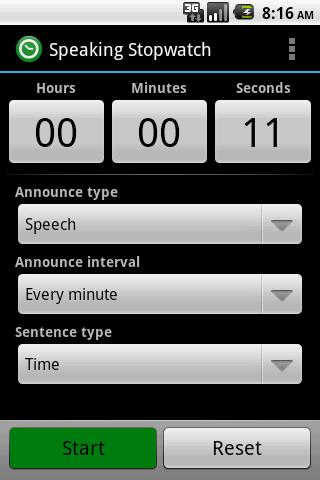 Speaking Stopwatch