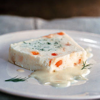 White Fish Terrine with Salmon Roe and Dill