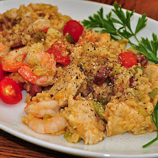 Chicken, Shrimp and Andouille Jambalaya