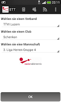 Screenshot of STT Tischtennis-Resultate