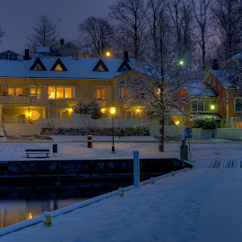 Let ther be Light by Bojan Bilas - City,  Street & Park  Neighborhoods ( naantali, finand, exterior, long exposure, night, architecture, homes, neighbourhood, city )