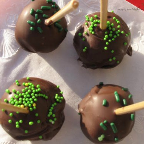 Mint Chocolate Chip Cookie Dough Truffles