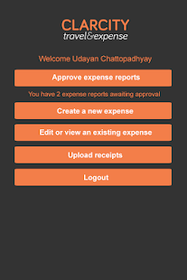 Clarcity Travel & Expense 2.0 - screenshot