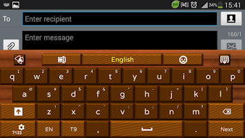 Screenshot of Dark Chocolate GO Keyboard