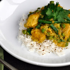 Yellow Curry Chicken with Basmati Rice