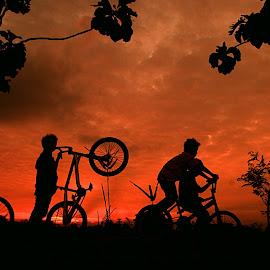 Pinjem Speda Teman by Lucas Setyaputra - Transportation Bicycles