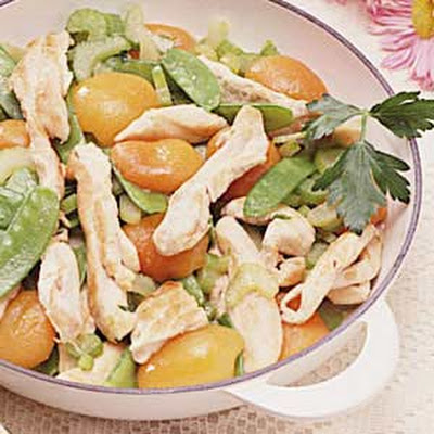 Chicken and Apricot Saute