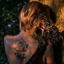 by Lubos Krahulec - People Body Art/Tattoos ( flower, bouquet )