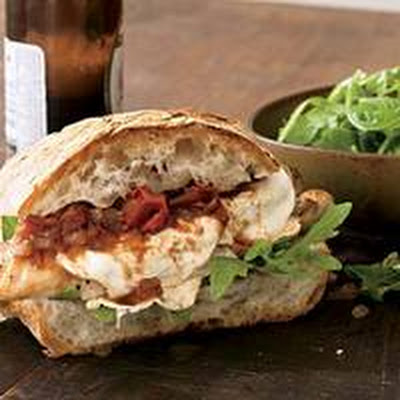 Smoked Mozzarella and Chicken Sandwiches with Italian Barbecue Sauce