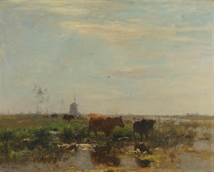 RIJKS: Willem Maris: Meadow with Cows by the Water 1904