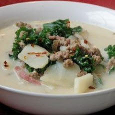 Bacon Sausage and Kale Soup
