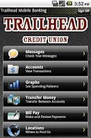 Screenshot of Trailhead CU Mobile Banking