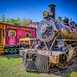 Eureka Springs Engine & Caboose by Ron Meyers - Transportation Trains