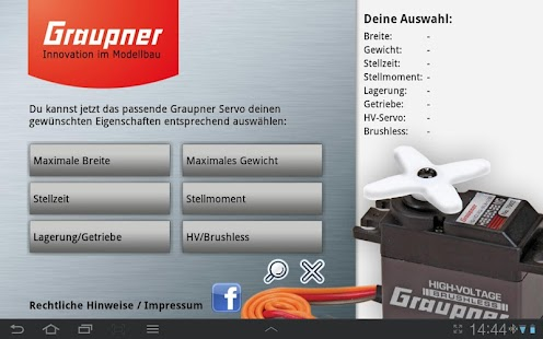 Graupner Servo Finder - screenshot