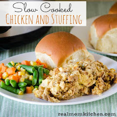Slow Cooked Chicken and Stuffing