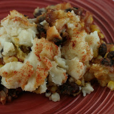 Slow Cooker Vegetarian Chili Shepherd's Pie