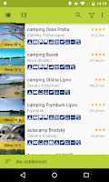 Screenshot of Czech campsites