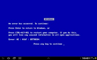 Screenshot of Blue Screen of Death