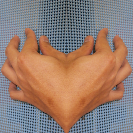 Heart Burned by Rasydan Aluwi - Abstract Patterns ( hand, love, burned, mirror, heart, reflects, lovely, burning, burn )