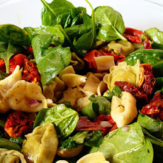 Tortellini Spinach Salad with Balsamic-Tomato Vinaigrette