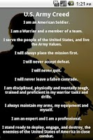 Screenshot of U.S. Army Soldier's Creed