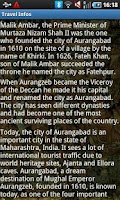 Screenshot of Aurangabad India Travel Guide