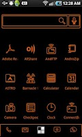 Screenshot of LightWorks Orange ADW Theme