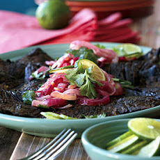 Skirt Steaks with Red Onion Mojo