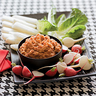 Red Pepper-Potato Dip with Crudités
