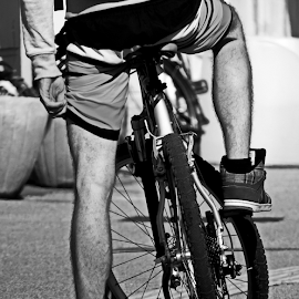 cycling by Renato Dibelčar - Sports & Fitness Other Sports ( black and white, cycling, outdoor, street, sport, bicycle )