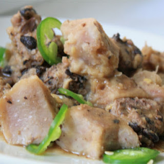Steamed Taro and Pork in Black Bean Sauce