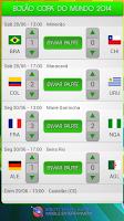 Screenshot of Bolão - Tabela - Copa do Mundo