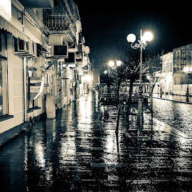 rainy night by Cornelius D - City,  Street & Park  Street Scenes