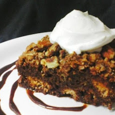 Chocolate Bread Pudding With Pecan Streusel Topping