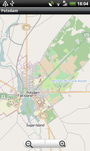 Potsdam NY Street Map