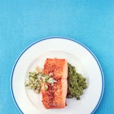 Salmon with Scallion Relish